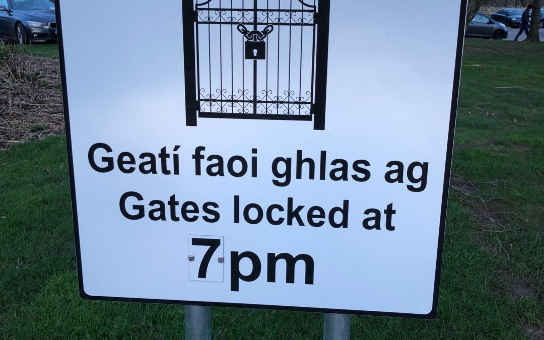 REGIONAL PARK USERS……….DON'T GET LOCKED IN!!